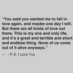 Ps I Love You Quotes Prepossessing Best Quote Ever From One Of My Favorite Movies Ps I Love You