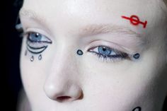 Face tattoos at Giambattista Valli Fall '15