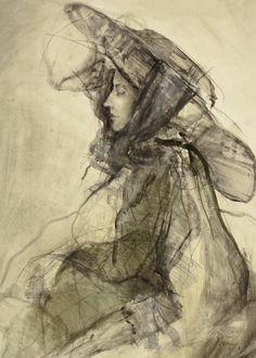"Saatchi Art Artist Ute Rathmann; Drawing, ""Hommage à Lovis Corinth V"" #art"