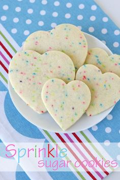 The Perfect Roll-Out Sugar Cookie Recipe.... with sprinkles because everything tastes better with sprinkles!