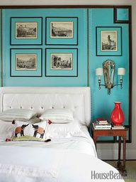 bright blue bedroom @Lindsay Harder