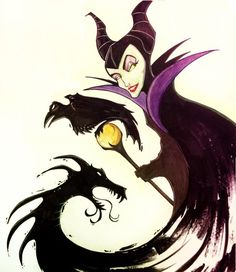 Been on a Sleeping Beauty kick lately. Thought I'd draw the most bad ass of all villains, Maleficent. Disney Pixar, Disney Marvel, Disney Fan Art, Disney Villains, Disney And Dreamworks, Disney Love, Disney Facts, Disney Princesses, Disney Characters