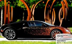 Bugatti Veyron Grand Sport by Bernar Venet. http://www.nuvolari.tv/anteprime/bugatti-veyron-grand-sport-bernar-venet