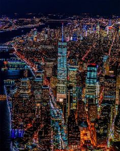 Manhattan at night by Chris Nova by newyorkcityfeelings.com - The Best Photos and Videos of New York City including the Statue of Liberty Brooklyn Bridge Central Park Empire State Building Chrysler Building and other popular New York places and attractions.
