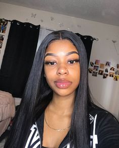 extensions weave on sale at reasonable prices, buy Yolissa Brazilian Straight Hair Bundles Human Hair 3 Bundles Deal Natural Black Hair Weave Bundles Remy Hair Extensions from mobile site on Aliexpress Now! Black Hairstyles With Weave, Black Girls Hairstyles, Ladies Hairstyles, Braids For Black Hair, Wavy Hair, Thick Hair, Permed Hairstyles, Straight Hairstyles, Hairstyles 2018