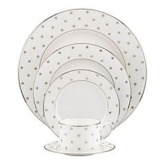 Kate Spade Larabee Road Platinum - want to mix in with my striped china :)