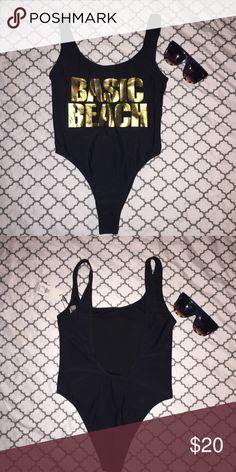High cut one piece swimsuit NWT NWT High cut black one piece swimsuit. Size UK 8 US 4. Suit still has hygienic lining. Swim One Pieces