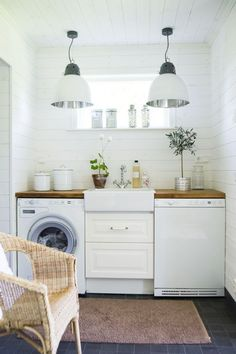 I wanted a space that would help organize all of my laundry needs, but also be a landing zone for the kids after school and soccer. We had the amazing opportunity to partner to design the laundry room! Laundry Room Design, Laundry In Bathroom, Laundry Rooms, Small Laundry, Laundry Area, Laundry Hacks, Compact Laundry, Compact Kitchen, Laundry Closet