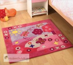 Summertime girls rug - childrens - Choose a rug type Girls Rugs, Summertime Girls, Carpets For Kids, Cool Kids Bedrooms, Childrens Rugs, Butterfly Kids, Art Deco, Cheap Carpet Runners, Pink Kids