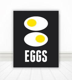 Eggs Egg Print Breakfast Print Breakfast Art by BentonParkPrints, $12.00