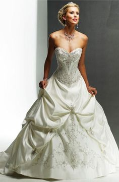 Maggie Sottero - Sweetheart Ball Gown in Beaded Embroidery