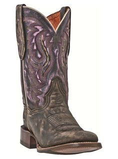 women western boots with purple | Dan Post Boots Cowboy Certified Western Sanded Leather Foot Dry Creek ...