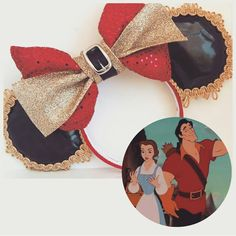 Beauty and the beast gaston ears... So cute. But needs little antlers in the center