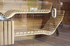 sauna Mayo designed for Dyntar sauny whirlpool Diy Sauna, Sauna House, Sauna Room, Compact Stairs, Home Spa Room, Sauna Design, Design Design, Interior Design, Outdoor Sauna