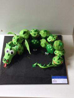 Draak cupcake taart