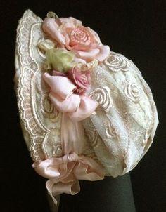 Antique bonnet! Antique & vintage historical fashion clothing at Ruby Lane. www.rubylane.com @rubylaneinc