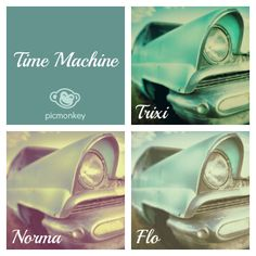 You'll fall in love with Trixi, Norma and Flo, our lovely retro Time Machine photo effects.