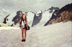 At the top of the Bugaboos
