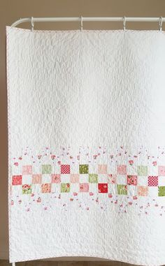 Ideas For Knitting Blanket Squares Patchwork Fabrics Backing A Quilt, Strip Quilt Patterns, Strip Quilts, Quilt Blocks, Quilting Patterns, Easy Baby Quilt Patterns, Simple Quilt Pattern, Patch Quilt, Quilting Ideas