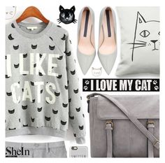 """Love! Cat print sweatshirt"" by pastelneon ❤ liked on Polyvore featuring Uniqlo, Betsey Johnson, Sixtrees, Casetify, Des Petits Hauts, women's clothing, women's fashion, women, female and woman"
