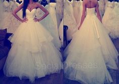 Fantastic Appliques Multi-layer  White Ball Gown Sweetheart Neckline Floor Length Tulle Wedding Dress with Lace-up