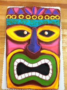 Tiki luau sheet cake