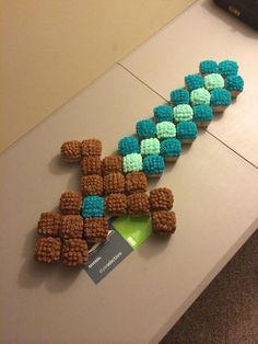 Diamond Minecraft Sword Cupcakes