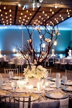 Centro de mesa Blanco con velas