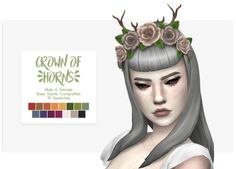 Nolan Sims here. Happy Simblreen! To celebrate, here is a crown chock full of beautiful blooms and twig horns! Any Sim is sure to dazzle and delight in this! Info & Download Below![[MORE]]Crown of...
