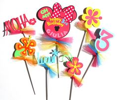 Minnie Mouse Inspired Tropical Luau Themed by ScrapsToRemember, $15.00