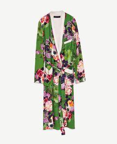 Image 8 of LONG FLORAL PRINT KIMONO from Zara