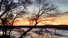 Sunset Over the Yellowstone River - Glendive MT