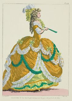 A Most Beguiling Accomplishment: Galerie des Modes, 1er Cahier de Grandes Robes d'Etiquette, 3e Figure