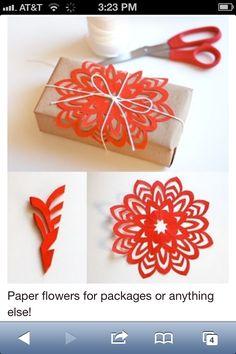 Easy snowflake cutout