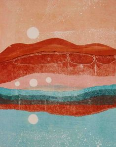monotype called The Land Between Night and Day