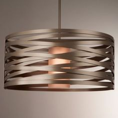 Tempest Drum Pendant by Hammerton Studio.  Above the dining room table.