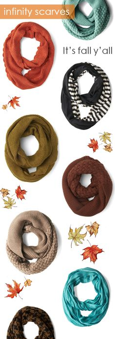 Infinity scarves #fallmusthaves