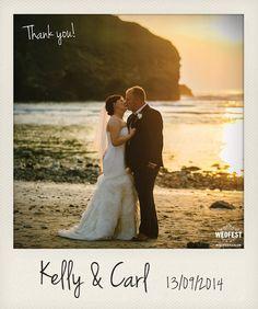 beach wedding thank you card http://www.wedfest.co/beach-seaside-wedding-stationery/