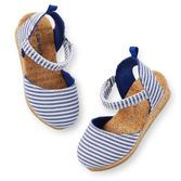 So cute for her spring and summer styles, these closed-toe sandals add a nautical touch to any outfit.<br>