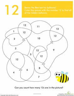 Worksheets: What's Hiding in the Numbers?: 12