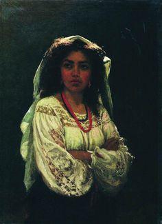ilya repin - Portrait of an Italian Woman