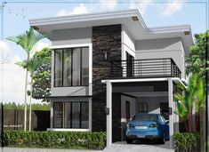 Small Home Design Exterior Spectacular Small House Exterior Design Philippines 90 on Furniture House Outer Design, Two Story House Design, Modern Small House Design, 2 Storey House Design, Modern Exterior House Designs, Design Exterior, Small Modern Home, Minimalist House Design, Modern House Plans