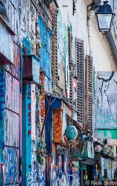 Paris . Graffiti in Belleville
