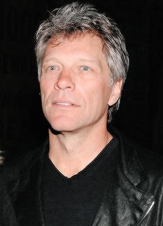 Jon Bon Jovi - even with the gray hair & a couple wrinkles, those big, blue eyes still dazzle! Credit to bongiovilicious, Tumblr.