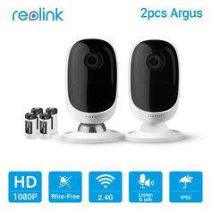Reolink Wireless WiFi Battery Camera 2MP Outdoor Full HD Wire-Free Weatherproof Indoor Security Cam Argus-2(2 cam pack) //Price: $248.60 & FREE Shipping // Go to Femannbuydirectchina.com