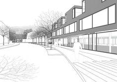 Merzhausen, Neue Ortsmitte Merzhausen | Winking · Froh Architekten BDA