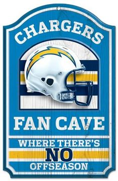d76aaffd44e69 Los Angeles Chargers Sign 11x17 Wood Fan Cave Design Special Order