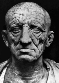 Bust of a Roman senator (1st century BCE). On display at the Museo Torlonia, Rome