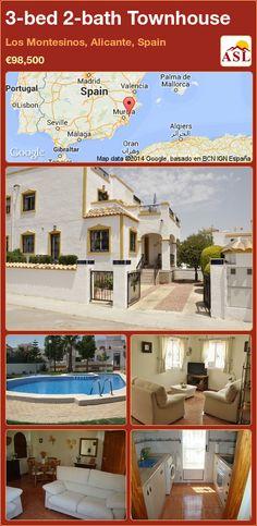 3-bed 2-bath Townhouse in Los Montesinos, Alicante, Spain ►€98,500 #PropertyForSaleInSpain