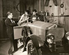 Donald Keith, Clara Bow, Gilbert Roland in The Plastic Age 1925.